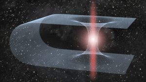 What Would Happen if a Black Hole Fell into a Wormhole